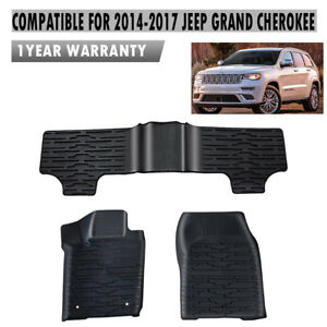 Front Rear Floor Mat Liners For Jeep Grand Cherokee 2014 2017 12920 28