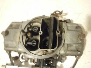 Holley Carburetor 4778 3 Double Pumper 700 Cfm Mechanical Secondary Carb Used