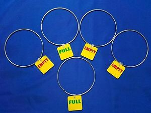 25 Empty Full Tags Rings Id Marker Gas Cylinder Reversible Welding Tanks 5 Usa