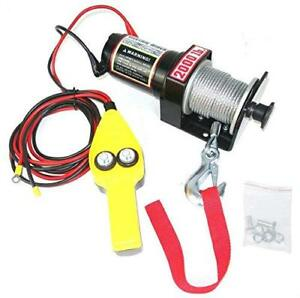Electric Winch 12 V Recovery Atv utv Winch Kits Wire Remote Control 4 Capacity