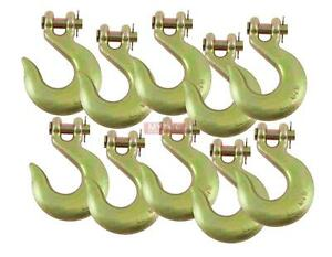 10 Pack 1 2 Clevis Slip Hook G70 Tow Chain Wrecker Truck Trailer Tie Down