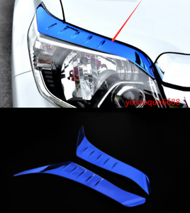 Stainless Front Eyebrow Light Frame Cover Trim Fit Fr Toyota Prado Fj150 2014 18