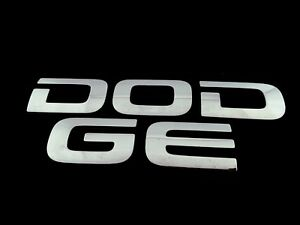 02 03 04 05 06 07 08 Dodge Ram Rear Gate Lid Chrome Emblem Logo Badge Oem 2003