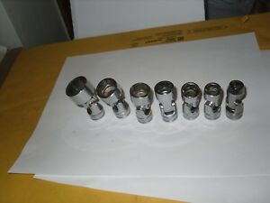 Snap On 7pc 3 8 Dr 6pt Sae 3 8 13 16 Shallow Universal Chrome Socket Set Usa
