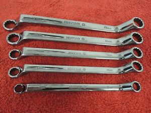 Matco Metric 10 19 Mm 60 Degree Offset Double Box End Wrench Set