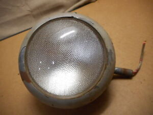 Vintage Cm Hall Light W Scripted Ford Tract o lite Lens 4 Motorcycle Bike