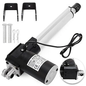 6 Inch Stroke Linear Actuator 6000n 1320lbs Pound Max Lift 12v Volt Dc Motor