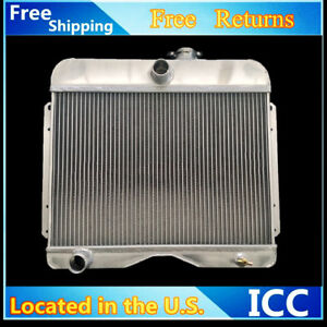 3rows Aluminum Radiator Fit 1946 1964 Jeep Station Wagon Willys pickup truck