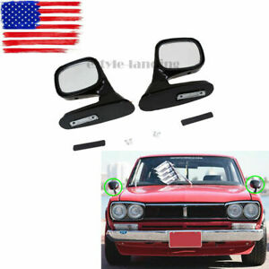 Universal Blind Spot Mirror Wide Angle Rear Side View Vehicle Car Truck Black