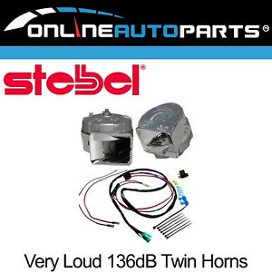 Stebel Magnum Electric Horn Kit 12 Volt 136db Twin Chrome Front Wiring Harness