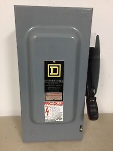 Square D H322n 60 Amp 240 Volt Non Fusible Indoor Disconnect Safety Switch