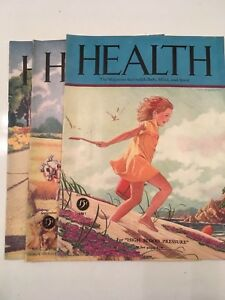 1935 Health Magazine Pacific Press Publishing - 3 issues