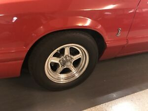 Front And Rear 5 Lug Mustang Drag Wheels And Tires