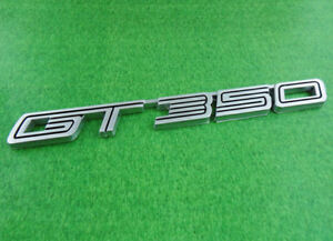 2x Auto Silver Gt350 Gt 350 For 15 16 Shelby Fender Emblem Badge Sticker