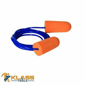 Orange Disposable Earplugs With Blue Cord ear Plugs packs Of 25 To 1 000 Pair