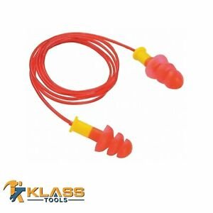 Red Yellow Tpr Disposable Earplugs With Red Cord packs Of 25 To 1 000 Pairs