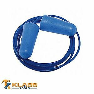 Blue Disposable Earplugs With Blue Cord ear Plugs packs Of 25 To 1 000 Pairs