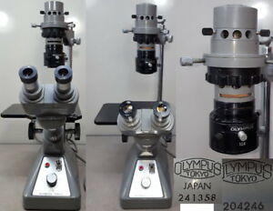Olympus Ck Inverted Microscope Objective cpl20 Pl10 4x Ck10x Eye Piece 1