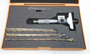 New Mitutoyo Depth Micrometer Set Dmc2 5 4 K Digital 229 127
