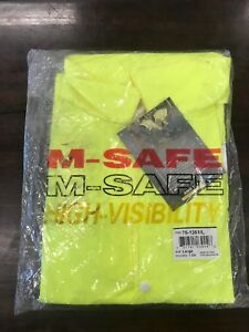 High Visibility Vest Yellow m safe By Majestic Large