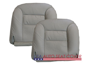 96 99 Chevy Truck 1500 2500 3500 Base V8 Gas D P Bottom Leather Seat Cover Gray