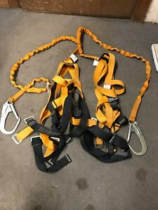 2 Titan miller Aerial Lift Fall Protection Kit Safety Harness Euc 310 Lbs