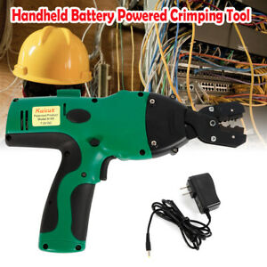 Cable Crimper Electric Automatic Pliers Hand Tools Wire Terminal Crimping 12 Ton