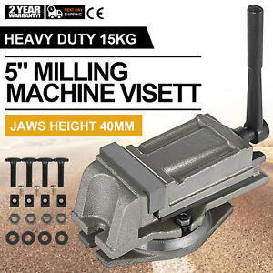 5 125mm Precision Swivel Rotating Base Bench Vice Durable Filing High Accuracy