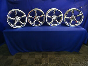 2005 06 07 08 2009 Mustang Saleen Staggered 19 Wheels 5x114 3 Chrome Heritage