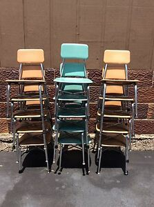 15 Vintage Heywood Wakefield Student Size School Chairs Few Colors Very Good