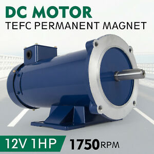 Dc Motor 1 0hp 56c Frame 12v 1750rpm Tefc Magnet Smooth Equipment Generally