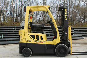 2011 Hyster S50ft 5000lb Capacity Forklift Triple Stage Mast Hi Lo Lift Truck