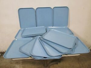 Lot Of 23 forte H d Commercial Fiber glass Stackable durable Food Trays