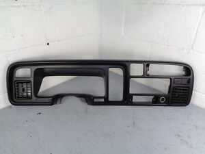 94 97 Dodge Ram Truck Speedometer Trim Dash Radio Bezel Surround Cover Dual Port