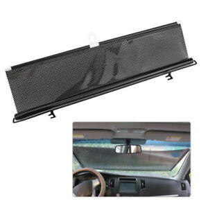 Black Car Retractable Windshield Visor Sun Shade Auto Block Cover 58 125cm
