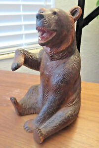 Superb Old Big Swiss Brienz Black Forest Hand Carved Bear