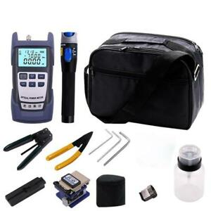 9 In 1 Fiber Optic Ftth Tool Kit With Fc 6s Fiber Cleaver And Power Meter Hot