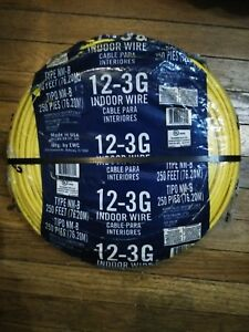250ft 12 3 Awg Non metallic Cable Copper Electrical Wire Nm b