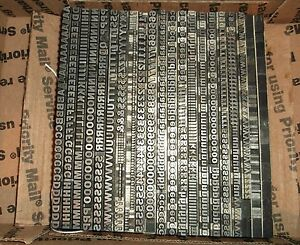 Vintage 14pt franklin Gothic no162 Foundry Type Letterpress Printing Antique