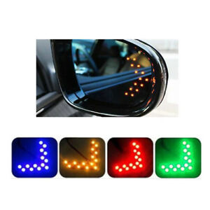 2x Car Auto Side Rear View Mirror 14 Smd Led Lamp Turn Signal Lights Accessory
