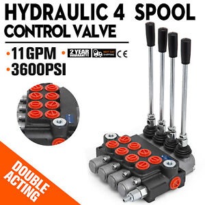 4 Spool Hydraulic Directional Control Valve 11gpm Double Acting Cylinder Spool