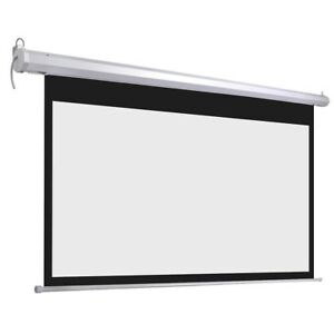 92inches Diagonal 16 9 Motorized Electric Projector Screen W Remote Control