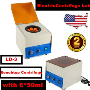 6 50ml Electric Benchtop Centrifuge Lab Medical Practice 4000rpm Lab With Timer
