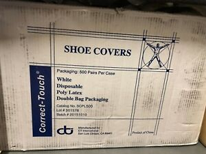 Correct Touch Shoe Covers White Disposable 50 Ct Bags