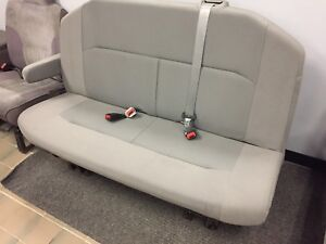 08 15 Ford Econoline Xlt Van 2nd Row Gray Cloth Bench Seat With Arm