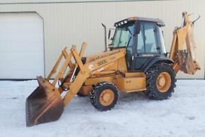 Case 580 Super L Backhoe Loader Cab heat 4x4 95 Hp Diesel Engine Powershift