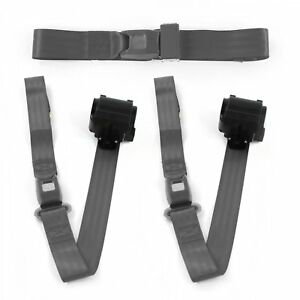 Ford Fairlane 1968 1969 Airplane 2pt Ch Retractable Bench Seat Belt Kit 3