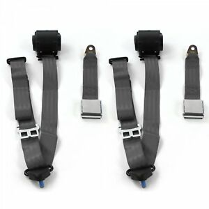 Ford Mustang 1967 1970 Airplane 3pt Ch Retract Bucket Seat Belt Kit 2 Belts
