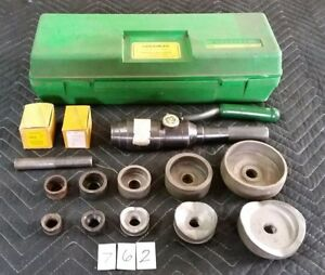Greenlee 7804 Quick draw Hydraulic Knockout Punch Driver Set Punches Conduit