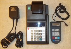 Verifone Tranz 460 Credit Card Machine Complete Set up Terminal Pin Pad Power